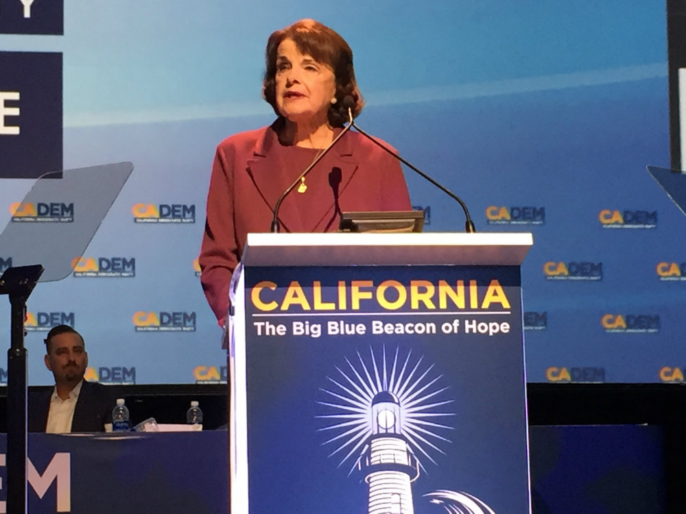022418 Dianne Feinstein CA California Dem Convention BA P