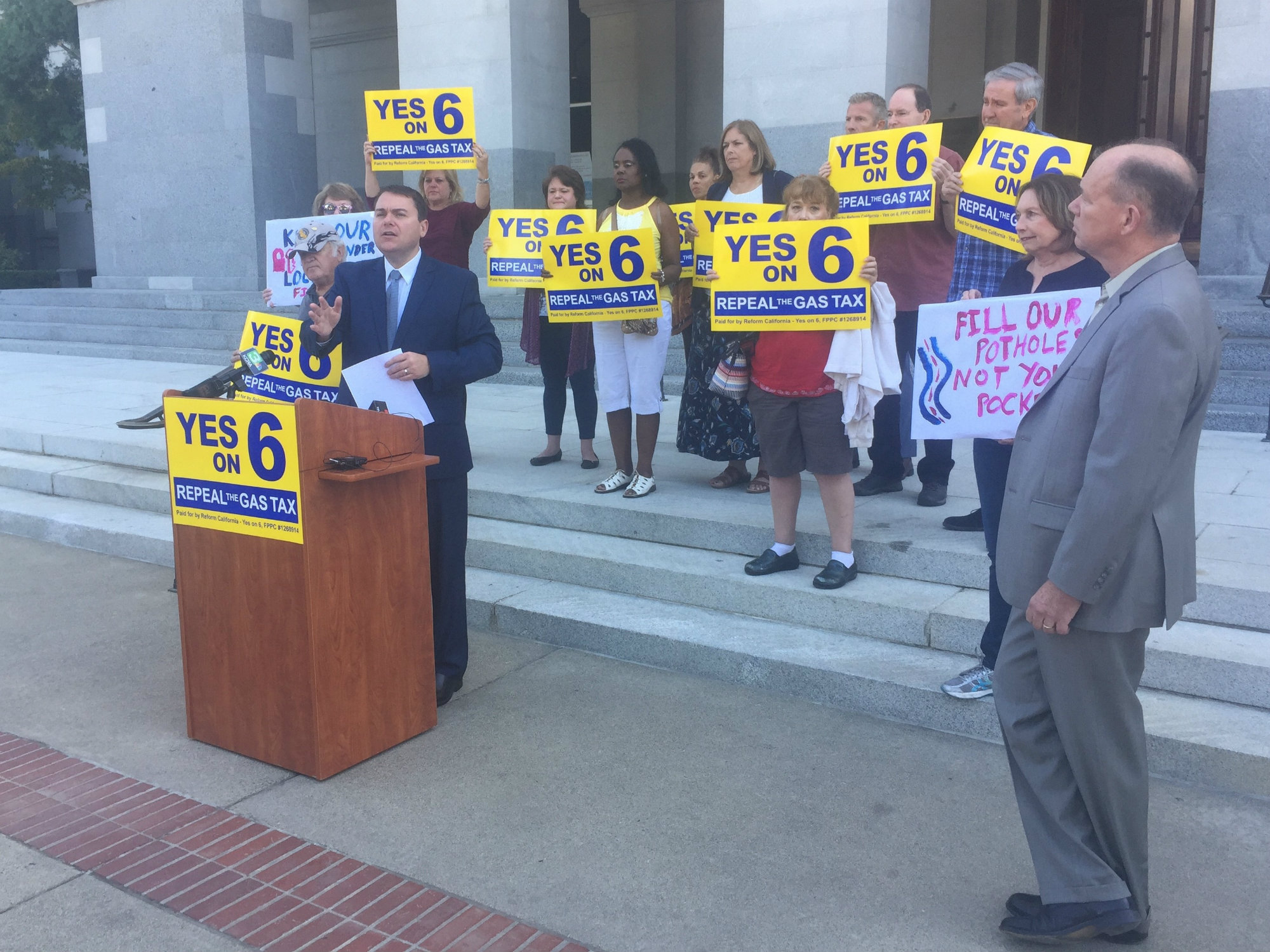 Backers of Proposition 6 'Gas Tax Repeal' Reveal New 2020 Ballot