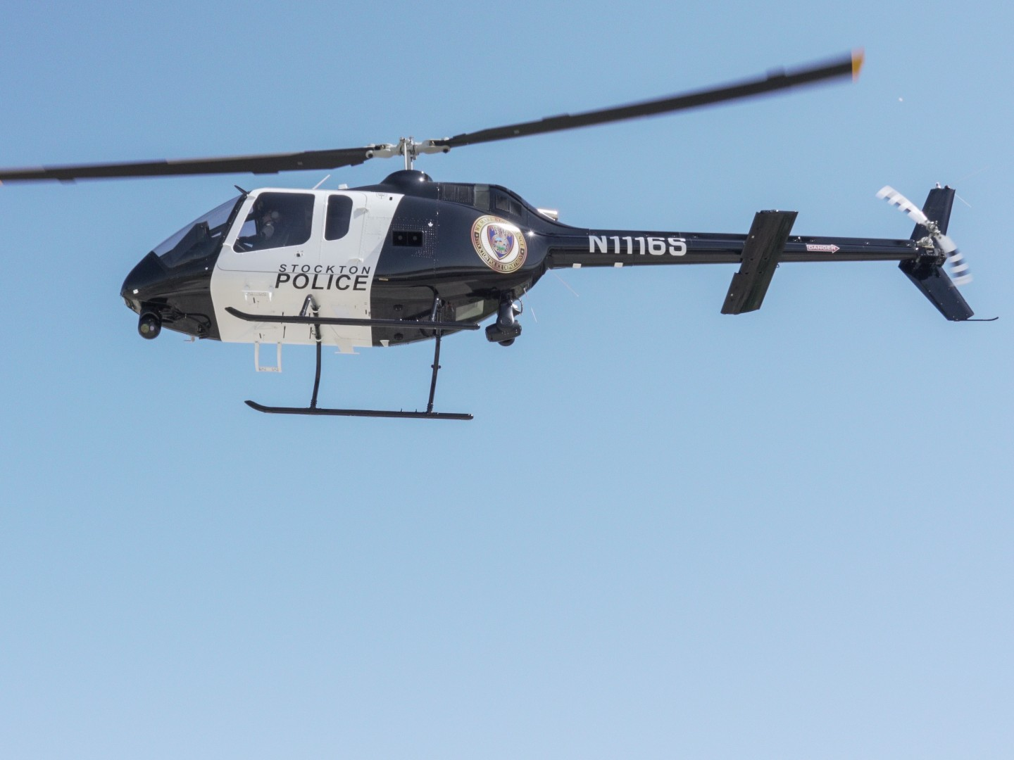Stockton Police Department S New Helicopter Aids In