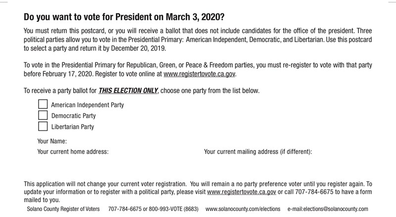 California Election Officials Address Confusion Over No Party Preference Voting In State S Presidential Primary Capradio Org
