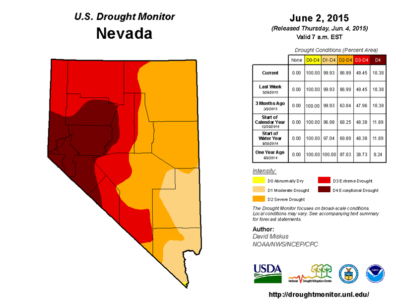 0604 Nevada Drought Monitor
