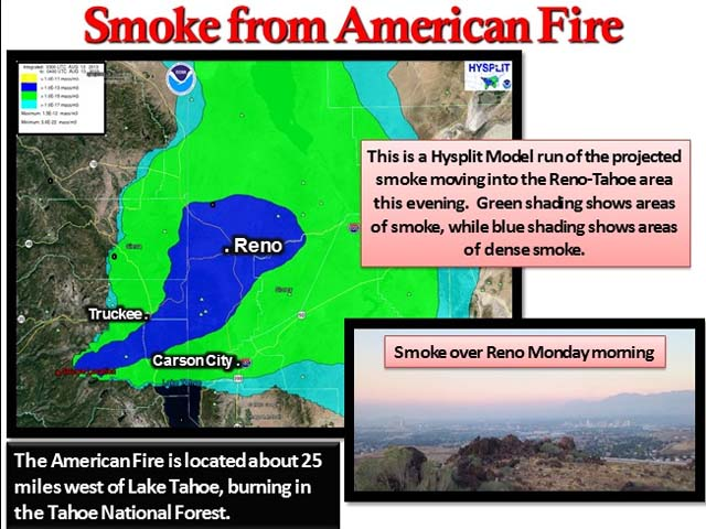 Fire In Tahoe National Forest Continues To Grow Capradio Org