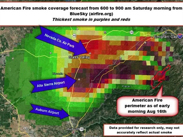 0817 American Fire Smoke Forecast