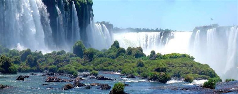 travels south america waterfall wide