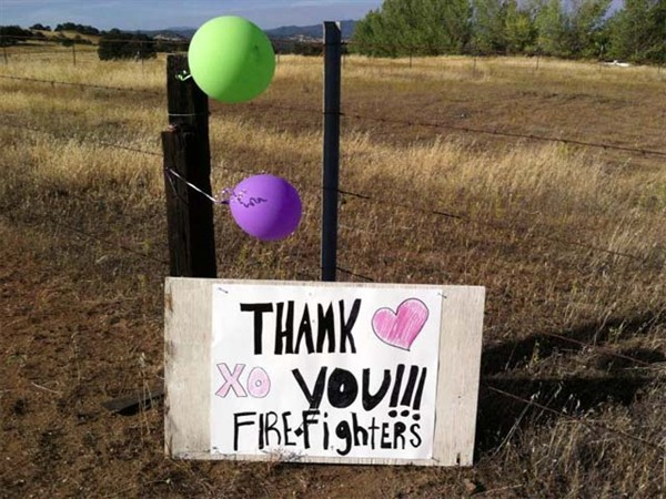0824 Rim Fire Thank You Sign