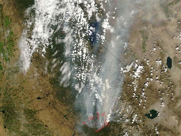0825 Rim Smoke NASA Photo