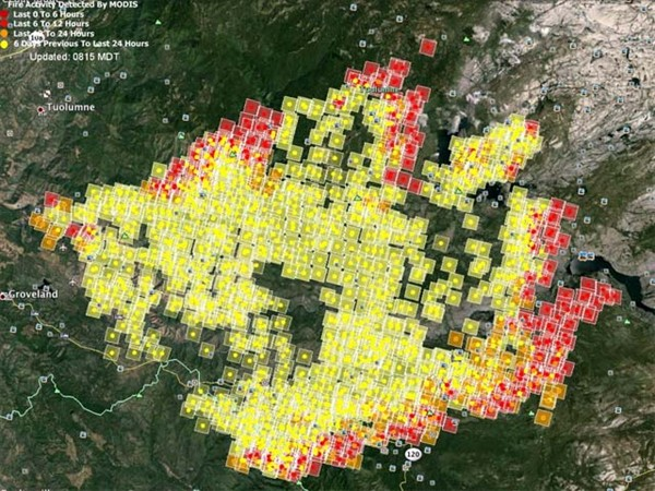 0826 Rim Fire MODIS Map