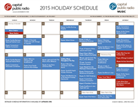Holiday Schedule 2015-12-4