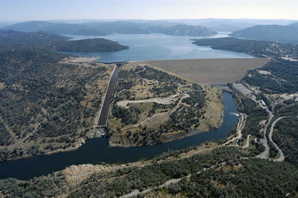 Oroville Dam from Above