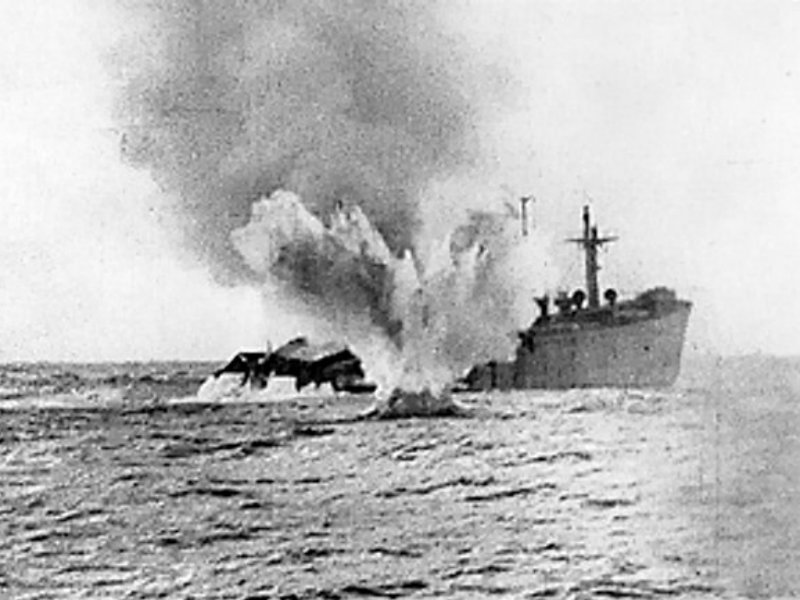 Torpedoed _merchant _ship _WWII_P