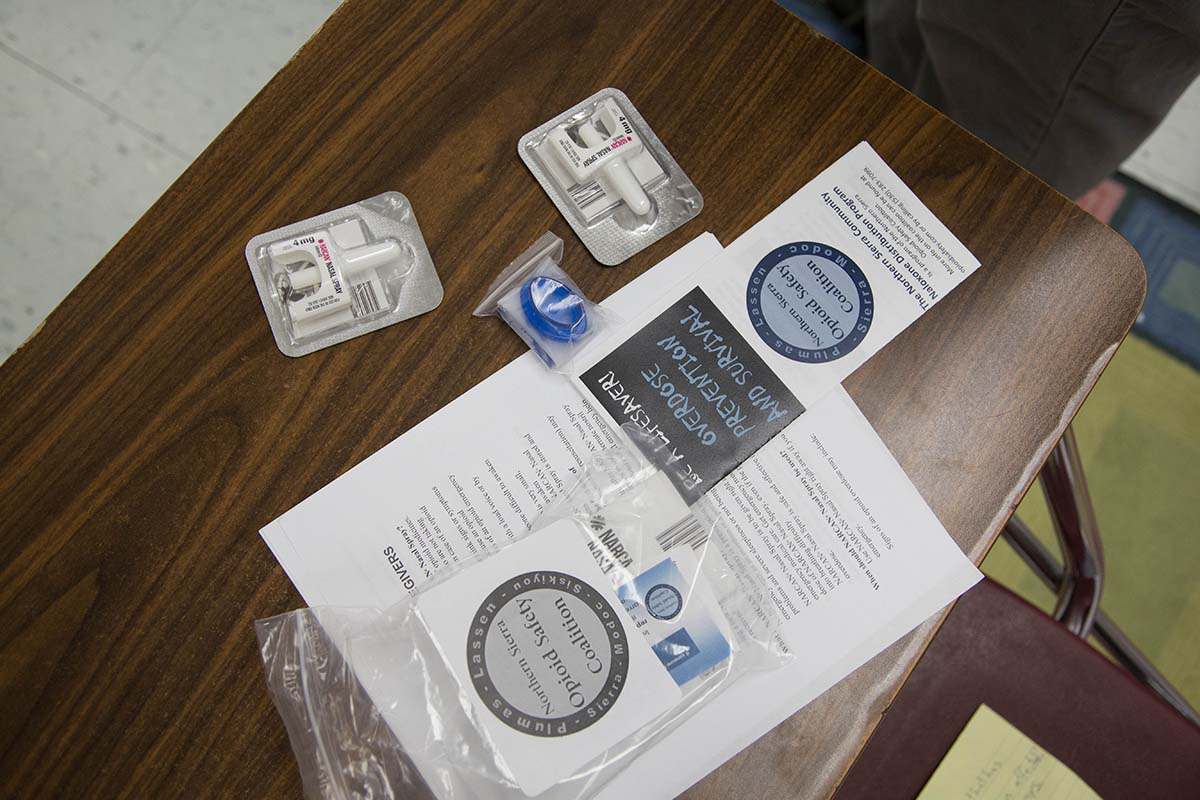 The Plumas County school board would have to sign off before campuses could start stocking naloxone, like the doses Wilson brings with him to classrooms.