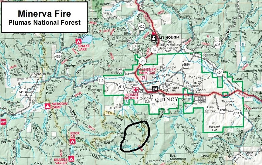 Fire Near Quincy Holding For Now Capradioorg - Us forestry wildfire map