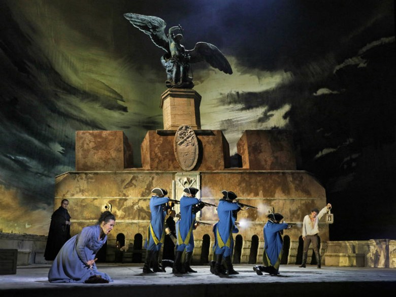 "A scene from Act III of Puccini's ""Tosca."" Photo: Ken Howard/Met Opera"