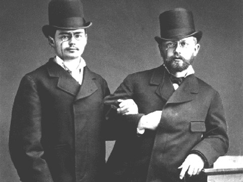 Iosif Kotek and Tchaikovsky in 1877