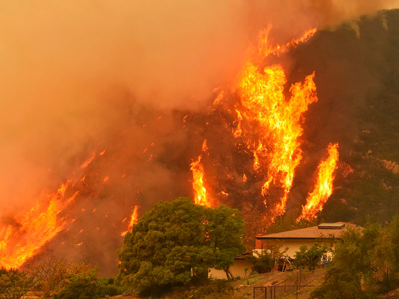 Mike Eliason/Santa Barbara County Fire Department via AP
